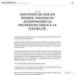 Explosion de joie en Bourse, Macron va accompagner la régression grâce à la flexibilité. – brunobertez