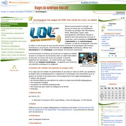 Accompagner les usages de l'ENT LOL (lycée On Line), un atelier - Usages du numérique éducatif