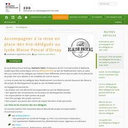 Rendre les élèves porteurs de projets EDD : le rôle des éco-délégués
