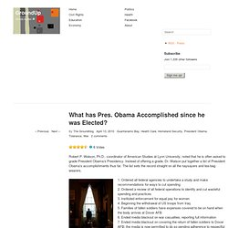 What has Pres. Obama Accomplished since he was Elected? « GroundUp CT