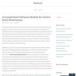 Accomplished Software Module for Online Hotel Reservation
