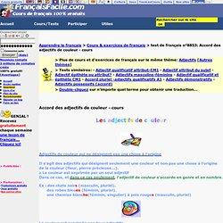Accord des adjectifs de couleur - cours - Exercice pour apprendre le français