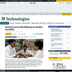 Accord sur les BlackBerry en Arabie saoudite