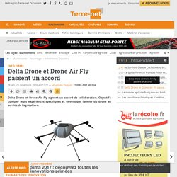 Accord de collaboration entre Delta Drone et Drone Air Fly