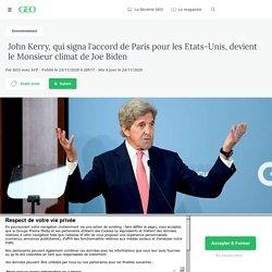 23-24 nov. 2020 John Kerry, qui signa l'accord de Paris pour les Etats-Unis, devient le Monsieur climat de Joe Biden