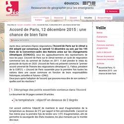 Accord de Paris, 12 décembre 2015 : une chance de bien faire