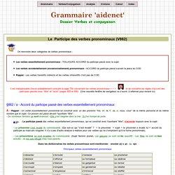 Accord du participe passé des verbes pronominaux