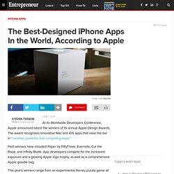 The Best-Designed iPhone Apps In the World, According to Apple