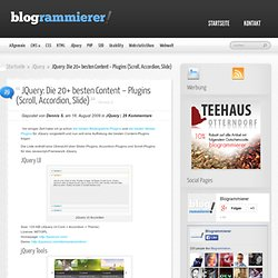 JQuery: Die 20+ besten Content – Plugins (Scroll, Accordion, Slide) » License, Size, Homepage, Demo, JQuery, Accordion » BLOGRAMMIERER