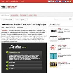Akordeon – Stylish jQuery accordion plugin