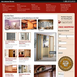 Accordion Doors | Guaranteed Lowest Price on Vinyl & Wood Accordion Doors