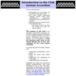 Musician's Guide to the Club System Button Accordion - Introduction