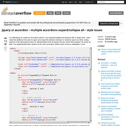 jquery ui accordion - multiple accordions expand/collapse all - style issues
