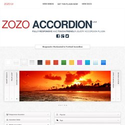 Zozo Accordion - Fully Responsive and touch-friendly jQuery Accordion plugin
