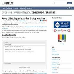 jQuery UI tabbing and accordion display templates - @eliostruyf