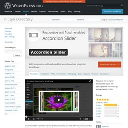 Accordion Slider — WordPress Plugins