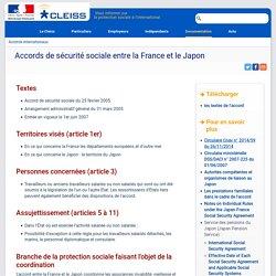 Accords de sécurité sociale entre la France et le Japon