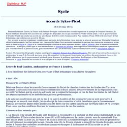 Accords Sykes-Picot, 1916, Digithèque MJP