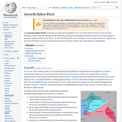 Accords Sykes-Picot
