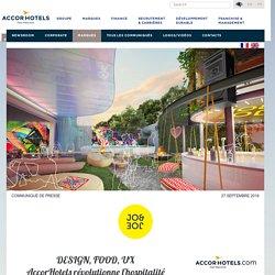 DESIGN, FOOD, UXAccorHotels révolutionne l'hospitalitéavec sa nouvelle marque JO&JOE