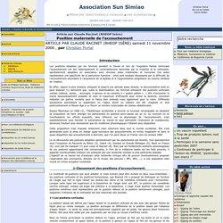 Position maternelle de l'accouchement - Association Sun Simiao