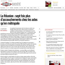La Réunion : sept fois plus d'accouchements chez les ados qu'en métropole