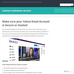 Make sure your Yahoo Email Account is Secure or Hacked