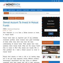 Demat Account to Invest in Mutual Funds - My Value Trade