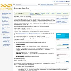 Account Leasing - Nxt Wiki