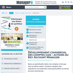 Key Account Manager : manager les comptes clés