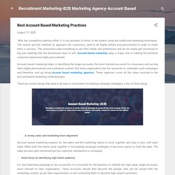Best Account Based Marketing Practices