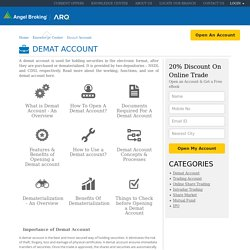 Demat Account: Know All About Demat Account | Demat Account Opening Guides - Angel Broking