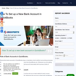 How to Set up a New Bank Account in QuickBooks