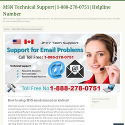 How to setup MSN email account on android