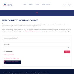 My Account – theeducation.exchange
