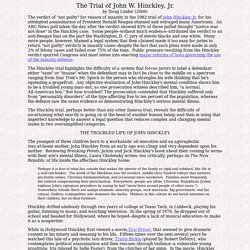 Account of the Trial of John W. Hinckley, Jr.