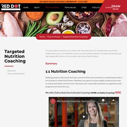 Targeted Nutrition Accountability Coaching Programs San Jose – RedDotFitness