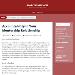 Accountability in Your Mentorship Relationship