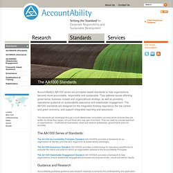 Setting the Standard for Corporate Responsibility and Sustainable Development - Standards