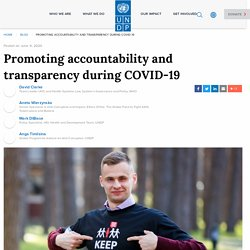 Promoting accountability and transparency during COVID-19