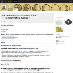«Community Accountablity» et «Transformative Justice» - Pratique féministe des Tarots