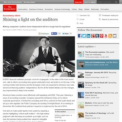 Accountancy reform: Shining a light on the auditors