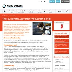 Accountancy education & skills