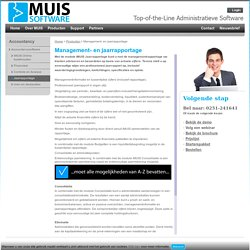 iMUIS Accountancy Management- en jaarrapportage