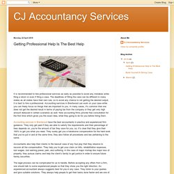 CJ Accountancy Services: Getting Professional Help Is The Best Help