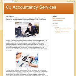 CJ Accountancy Services: Get Your Accountancy Services Right At The First Time