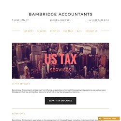 US Tax Accountant London — Bambridge Accountants
