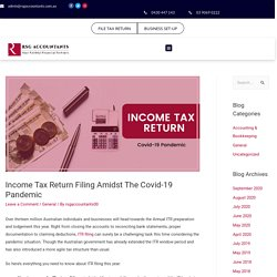 Income Tax Return Filing with best Accountant in Melbourne - RSG Accountants