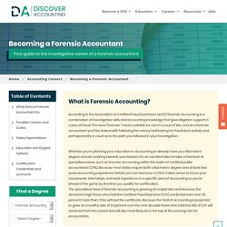 Forensic Accountant - Career, Salary and Licensing Guide - Discover Accounting