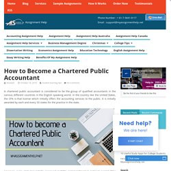How to Become a Chartered Public Accountant